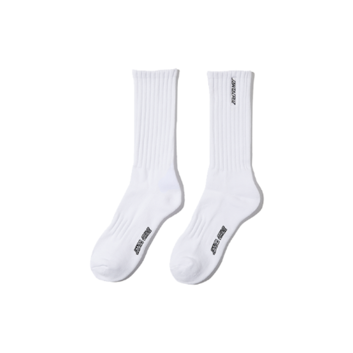 Strip high socks - white