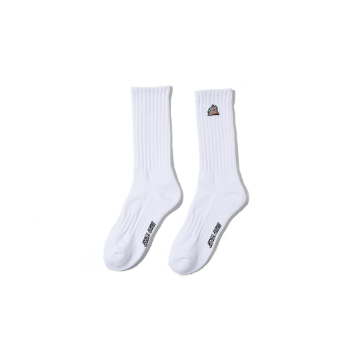 Not a dot high socks - white