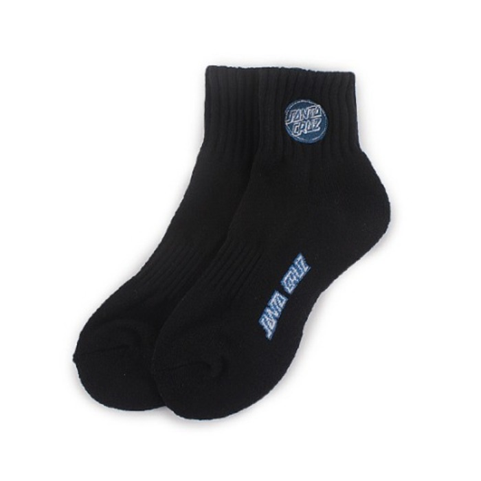 Mens Revers Dot Logo Middle Socks - Black