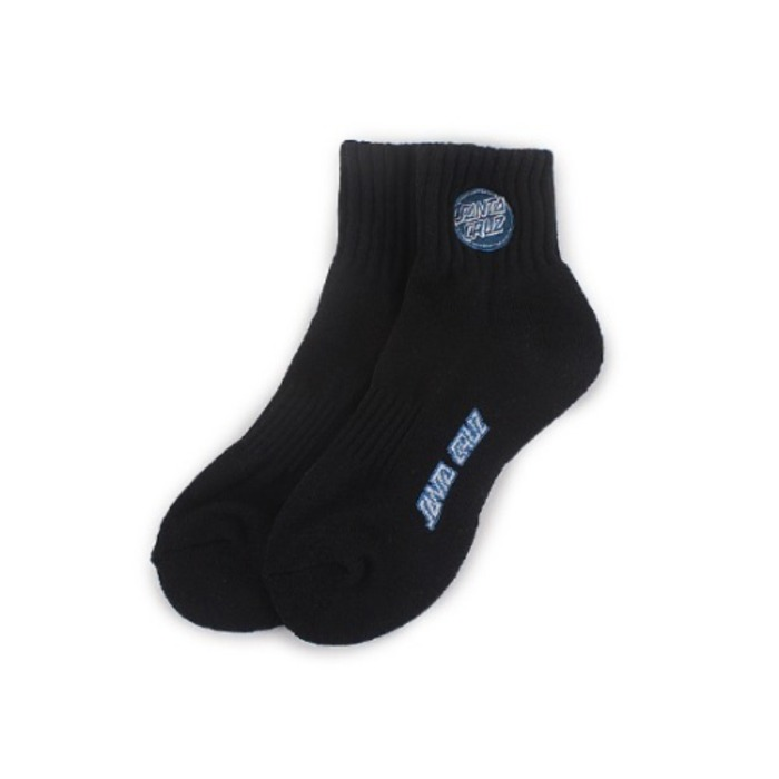 Womens Revers Dot Logo Middle Socks - Black